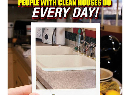 9 Things People With Clean Houses Do Every Day!