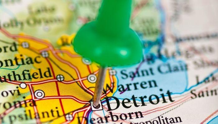Detroit MI Map Pin