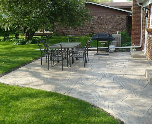 Stamped Patio made of Concrete