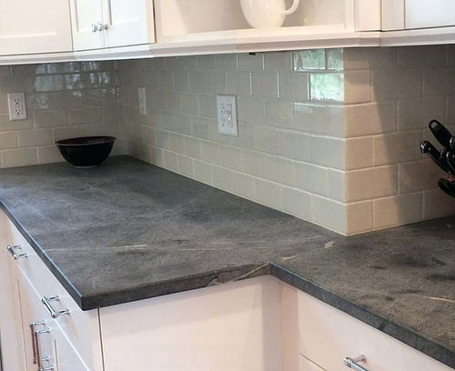 Slate Countertop Kitchen Black Soapstone