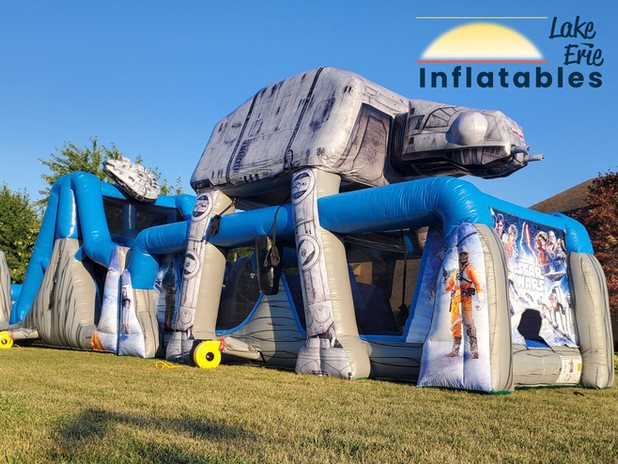 STAR WARS Obstacle Course with Slide Wet
