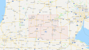 map of mid-michigan counties