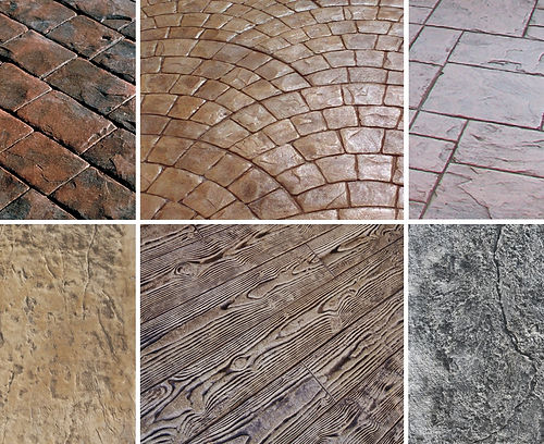 Stamped concrete options by your Becker and Scrivens redi mix concrete supplier