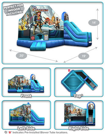 Pirates Club House Inflatable