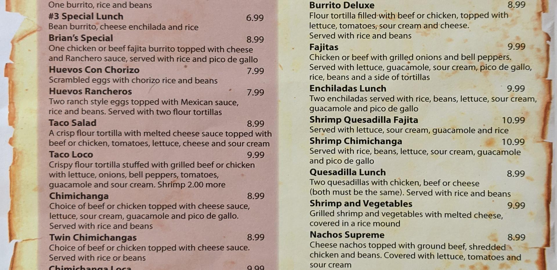 House Specials, Shrimp, Chicken