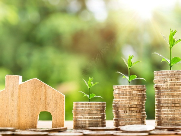 money growing house saving