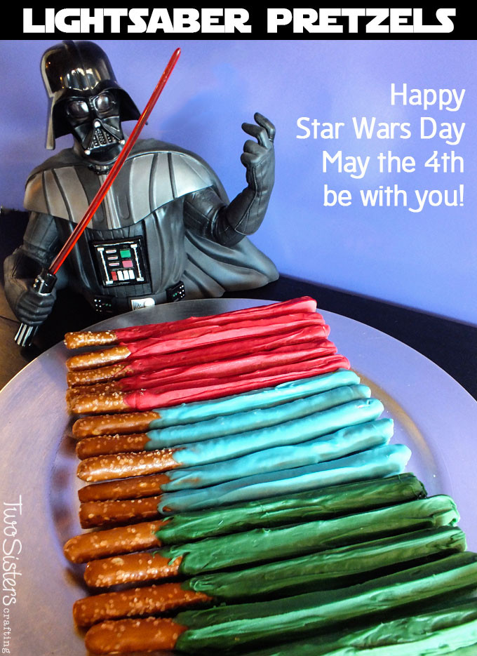 Star Wars May 4th Chocolate Colorful Pretzels