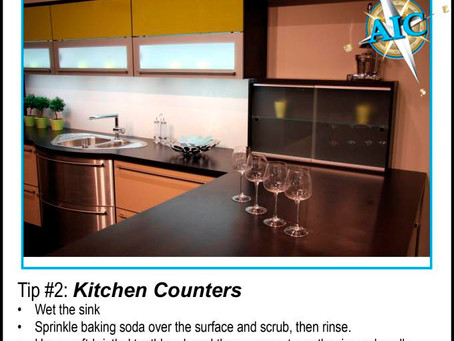 Cleaning Tip #2: Kitchen Counters