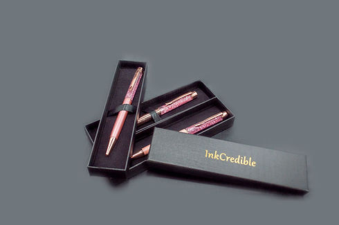 Hazelwood Rose InkCredible Gift Pens