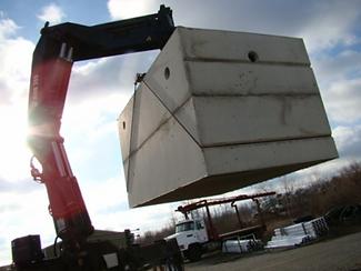 Becker and Scrivens concrete septic tank insulation