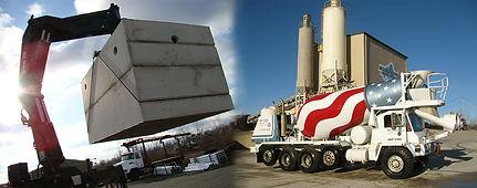 concrete septic tank insulation image fading into Becker Scrivens redi mix concrete company