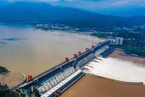 Since June the Three Gorges Dam has been called on to hold back floodwaters from downstream cities like Wuhan. (Imaginechina via AP Images)