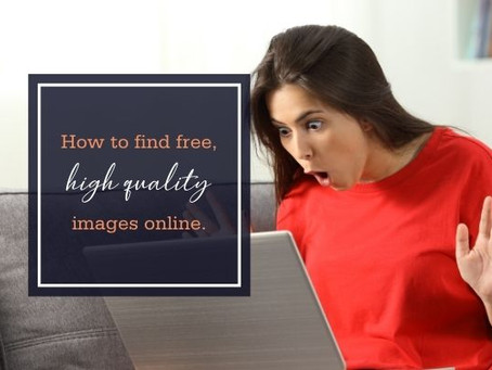 How to find free, high quality images online.