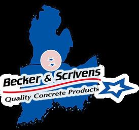 Becker & Scrivens Map Logo