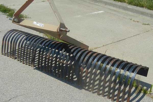 steel-tined rake