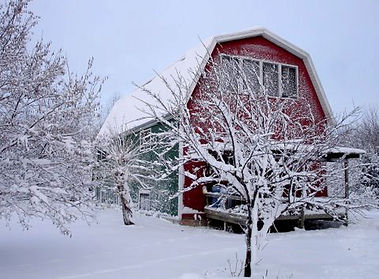 Barn Home in the Winter