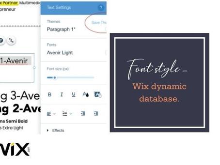 Font Style–Wix Dynamic Database