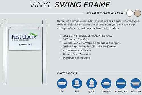 Vinyl Swing Frame