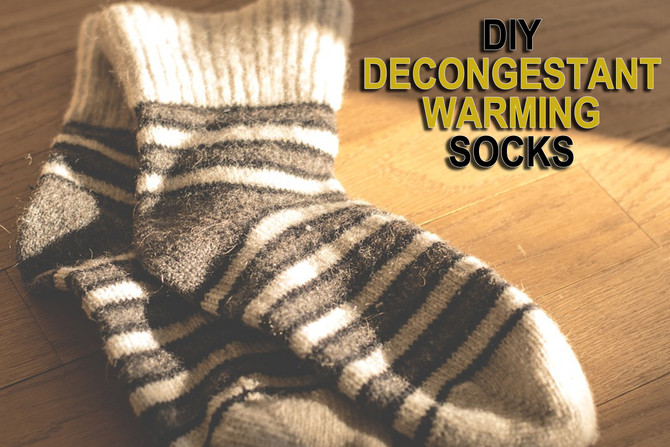 Decongestant Warming Socks