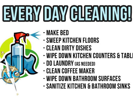 When should you be cleaning?