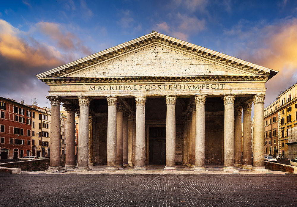 The Pantheon was built in 120 AD and is considered to be the largest unsupported concrete structure in the world.