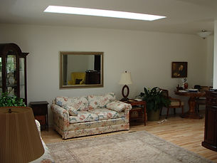 Skylight in living room