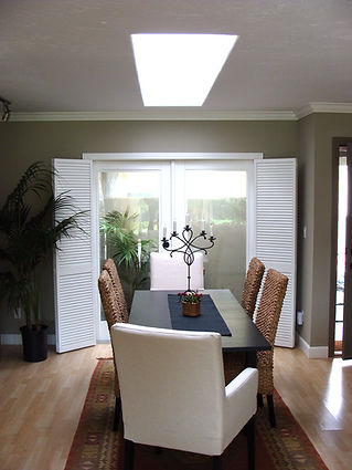 Dining room skylight