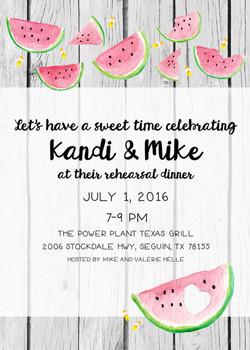 Watermelon Invite 5x7