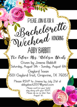 Bach Party Invite