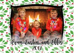 Williams Christmas Card BACK