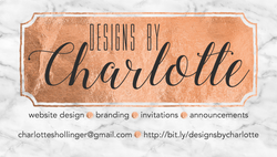 Designs by Charlotte Business Card