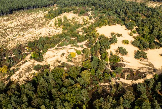 Luchtfoto Oudsberg - Duinengordel