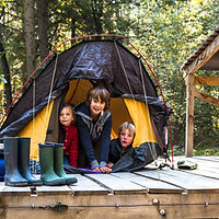 Paalkamperen Duinengordel gratis kamperen