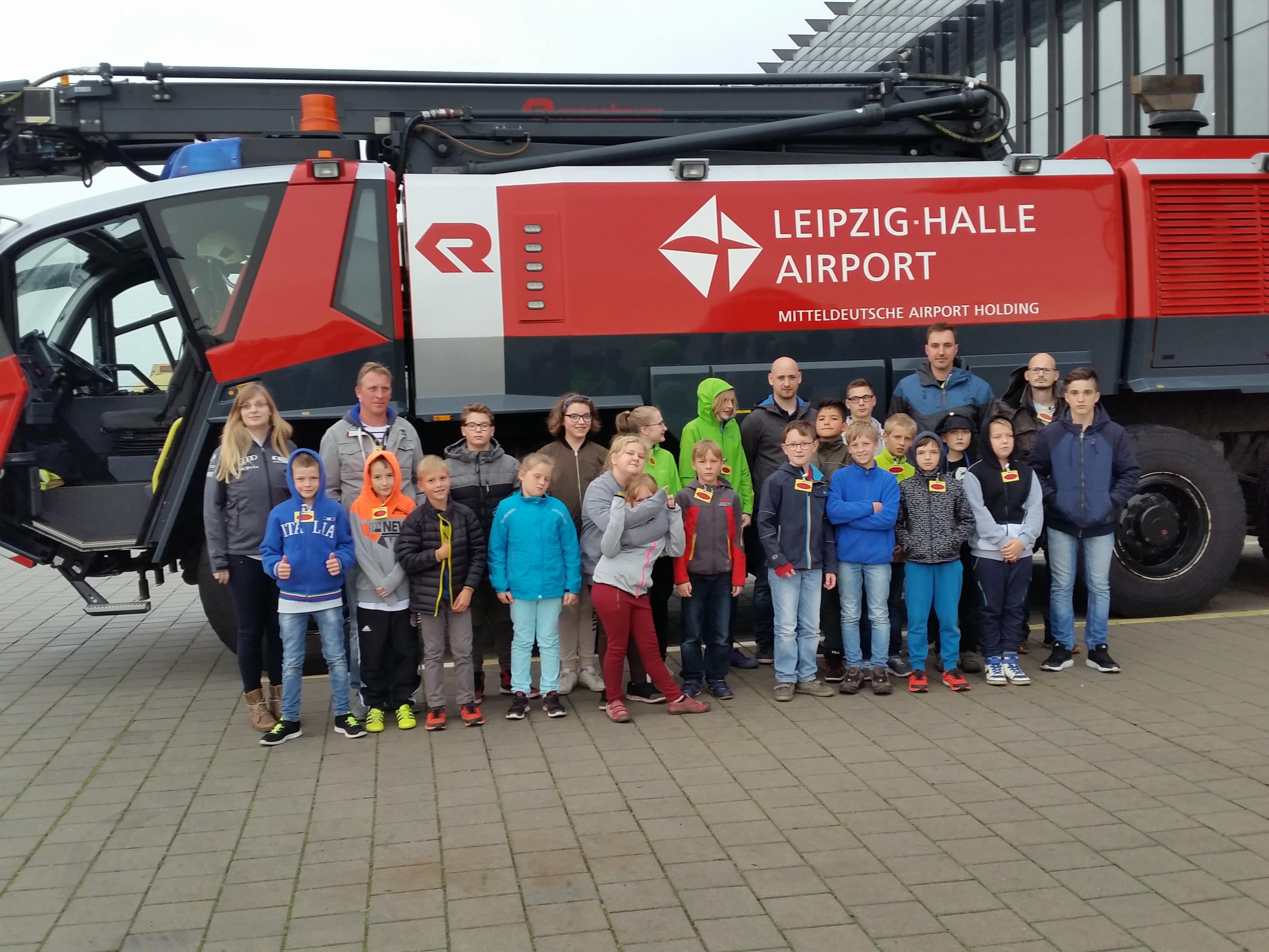 Besuch Flughafenfeuerwehr Leipzig