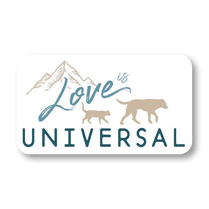 Love is Universal Sticker