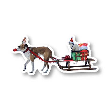 Limited Edition Holiday Rudolph Sticker