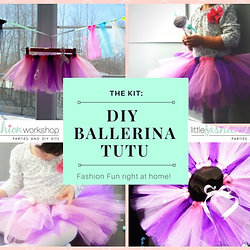 Diy fashion party kits and activity kits ballerina kit for 6 make your own tutu solutioingenieria Choice Image