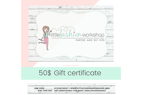 Gift Certificate Pay 40$ get 50$!