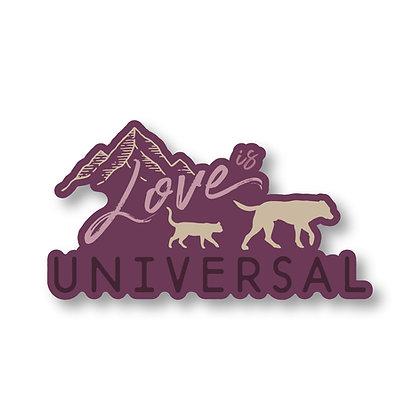Love is Universal Die Cut Sticker