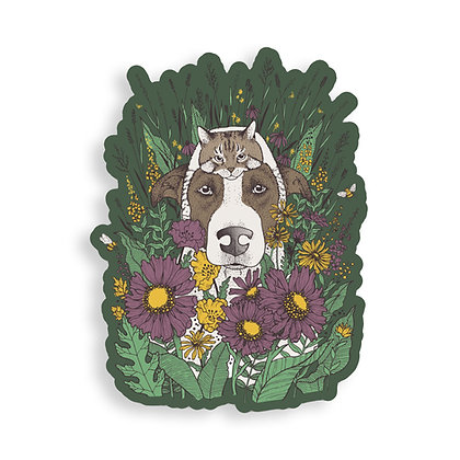 Into the Wildflowers Sticker