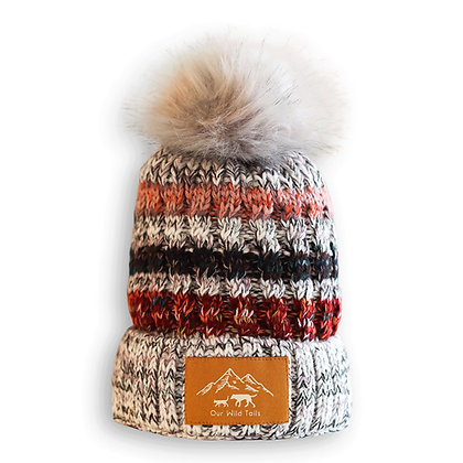 Fleece-Lined Beanie with Faux Fur Pom-pom