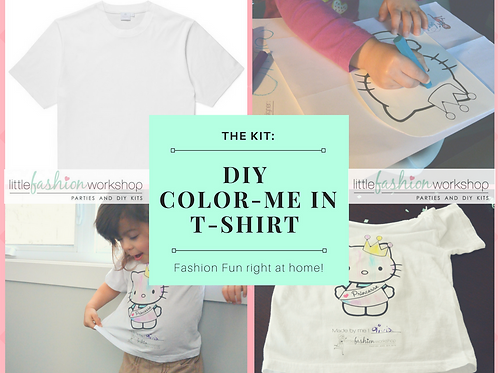 Color me-in Kit {Outline images & Fabric Pastels}