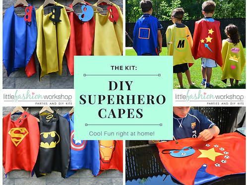 DIY Superhero Cape Kit for 6 {Reversible Cape with Mask}