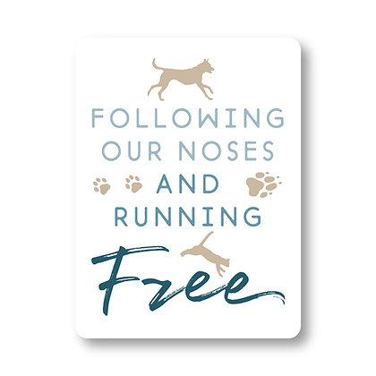 Running Free Sticker