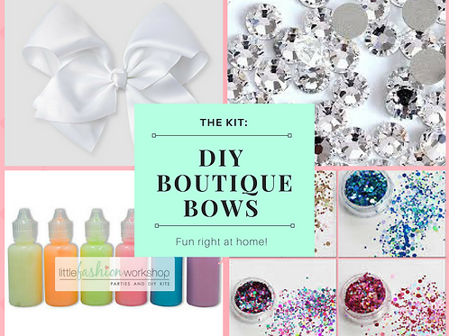 DIY Boutique Hair Bow Kit (Jojo Bow style)