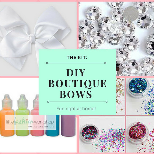 Diy fashion party kits and activity kits diy boutique hair bow kit jojo bow style solutioingenieria Images