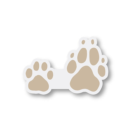 Muddy Paws Clear Sticker