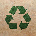 Recycle logo on old paper.jpg