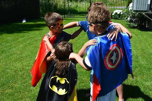 Single Superhero Capes and Matching Masks