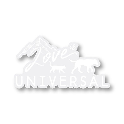 Love is Universal Decal